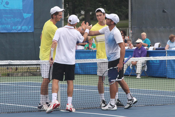 Handshakes at the net