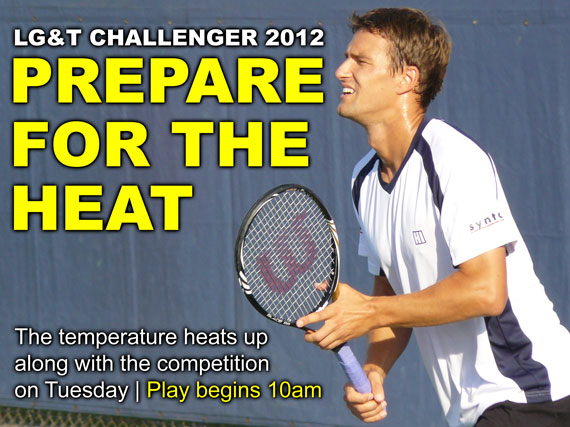 The temperature heats up along with the competition on Tuesday | Play begins 10am