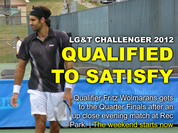 Qualifier Fritz Wolmarans gets to the Quarter Finals after an up close evening match at Rec Park.   The weekend starts now