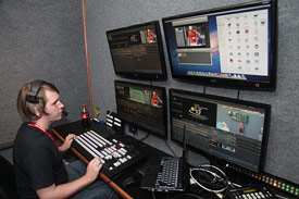 The control room to beam our tournament around the world