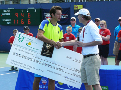 Stakhovsky and the big check