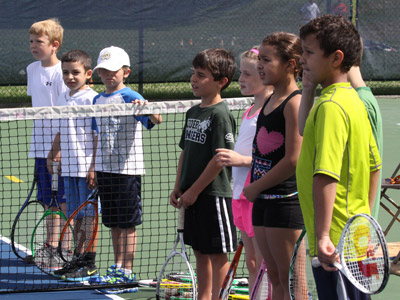 Kids take part in Dicks 10 and Under Tennis Carnival