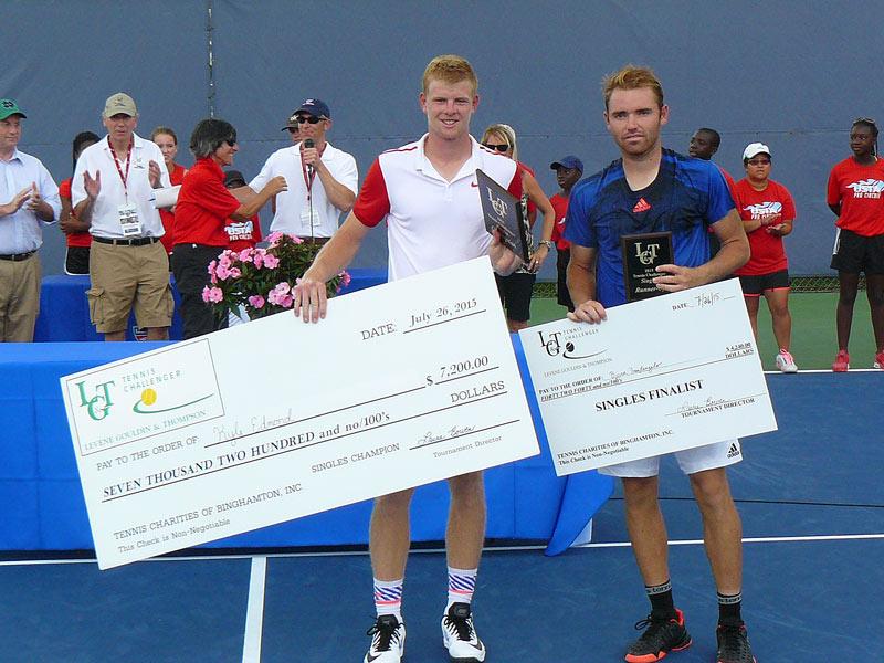 Winner Edmund and Finalist Fratangelo
