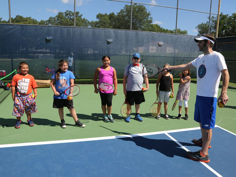 Dick's 10 and Under Tennis Clinic participants