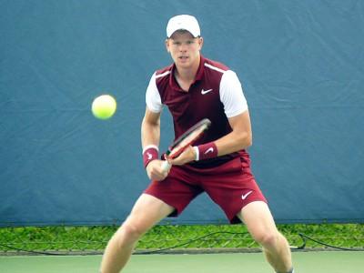 Edmund in semi-finals match