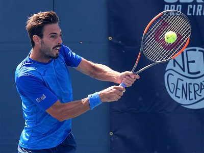 marcel granollers at the 2018 LGT doubles final